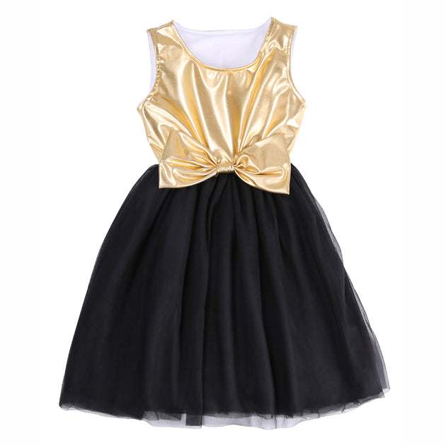 Sloane Bold, Gold, Black Tutu Dress