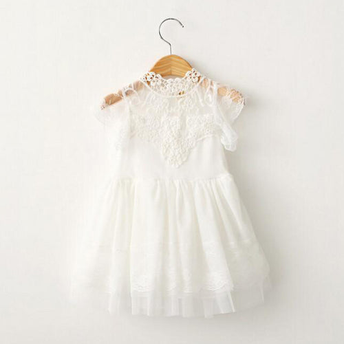 Olivia Off-White Lace Cap Sleeve Dress