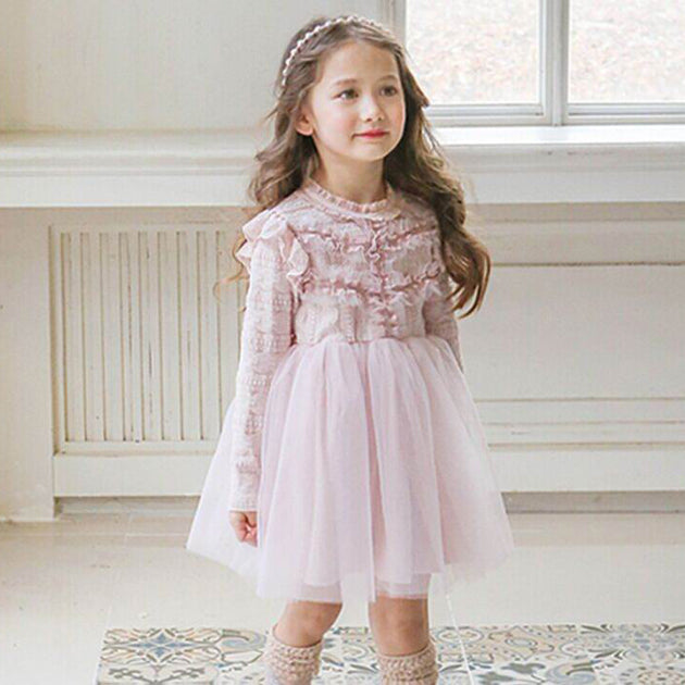 Madeline Soft Pink Patchwork Dress
