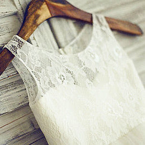 Amelia White Lace Tulle Dress
