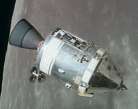 Apollo 15 Command Module in Lunar Orbit