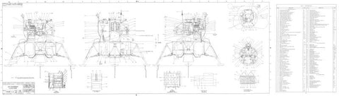 Lunar Module Equipment Locations Sheet 1