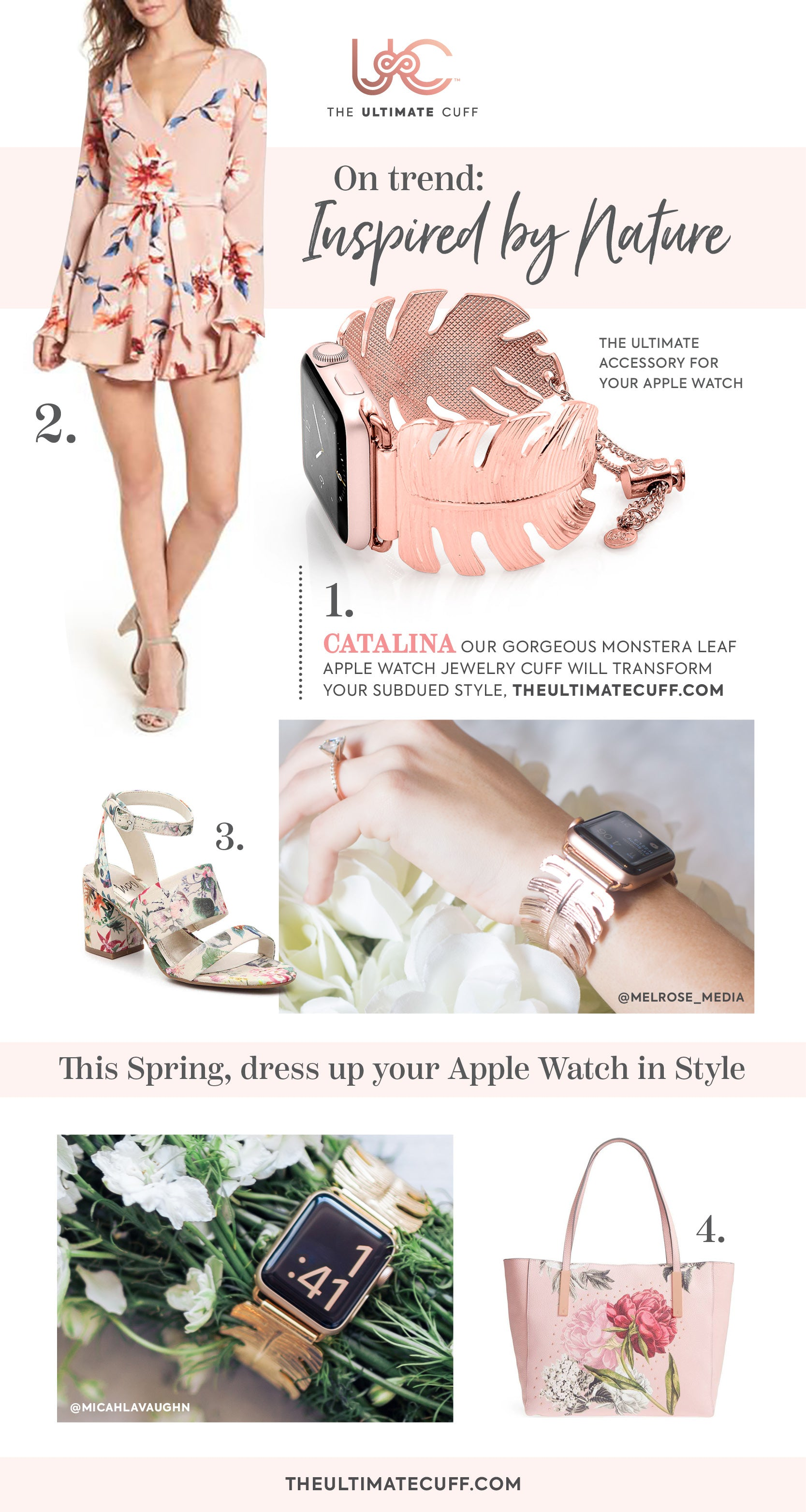 The Ultimate Cuff iwatch bracelet spring floral fashion