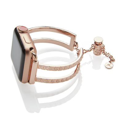 Pyramid Shaped Rose Gold Apple Watch Band by The Ultimate Cuff