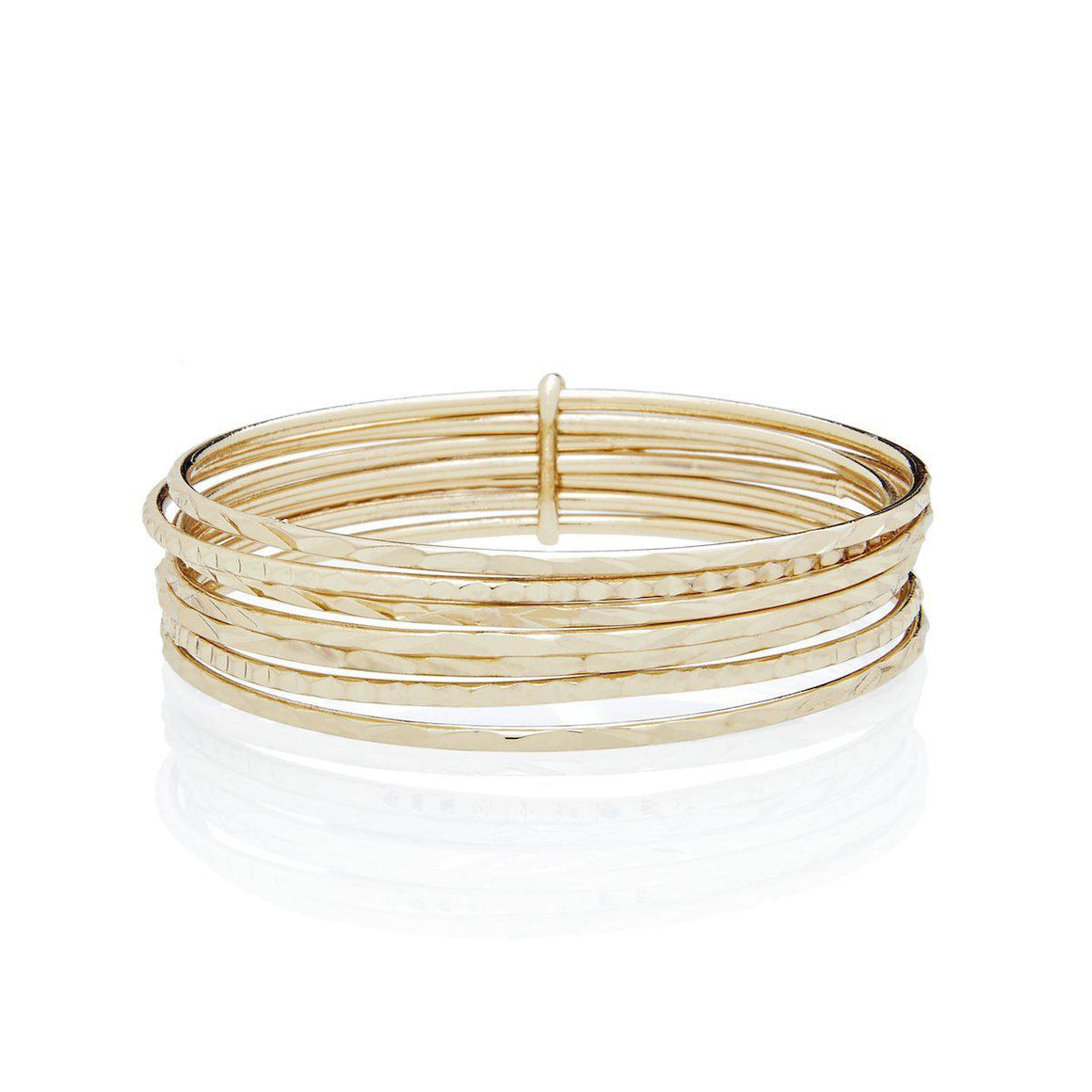 Gold Bangles - Set of 7