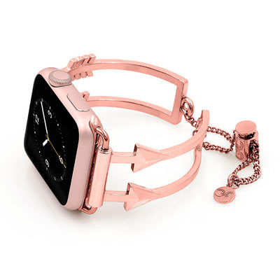 The Artemis Rose Gold Arrow Apple Watch Band by The Ultimate Cuff