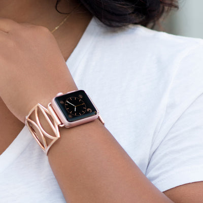 The Cleo Rose Gold Apple Watch Jewelry Band by The Ultimate Cuff