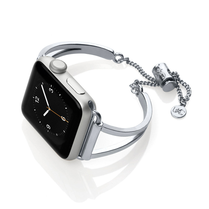The Mia Silver Apple Watch Band By Ultimate Cuff