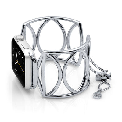 The Cleo Silver Apple Watch Jewelry Band by The Ultimate Cuff