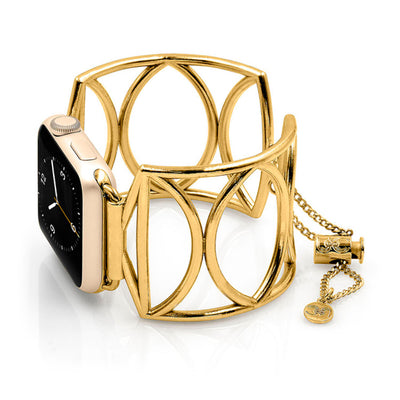 The Cleo Gold Apple Watch Jewelry Band by The Ultimate Cuff