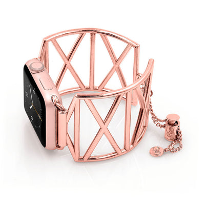 Diana X-Shaped Rose Gold Apple Watch Jewelry Band