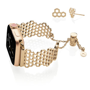 The Ultimate Cuff Apple Watch band Honey Yellow Gold Earrings