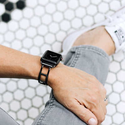 The Addison Space Gray Apple Watch Band by The Ultimate Cuff