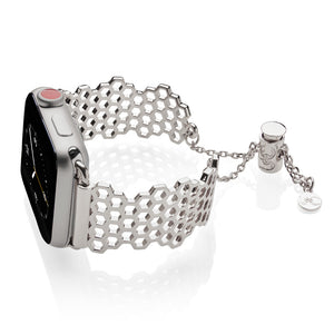 The Ultimate Cuff Apple Watch band Honey Silver