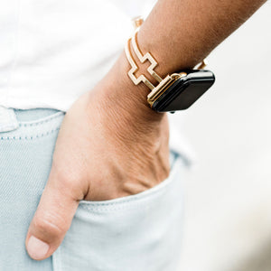 The Ultimate Cuff Apple Watch band Hope gold
