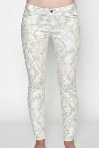Grey Tie Dye Skinny Denim Jeans
