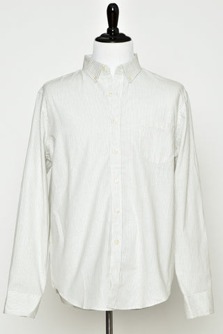 Reed Edward Ivory Stripe Button Down Shirt