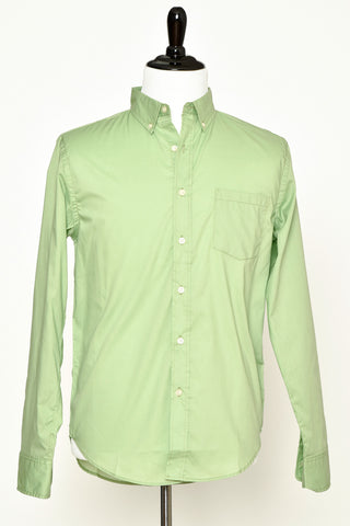 Reed Edward Green Button Down Woven Shirt