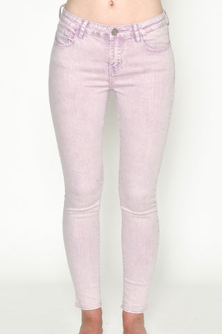 Purple Skinny Denim Jeans