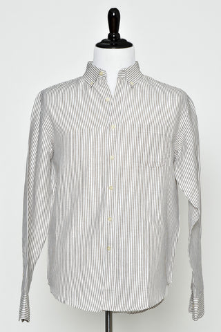 Reed Edward Tan Stripe Button Down Shirt