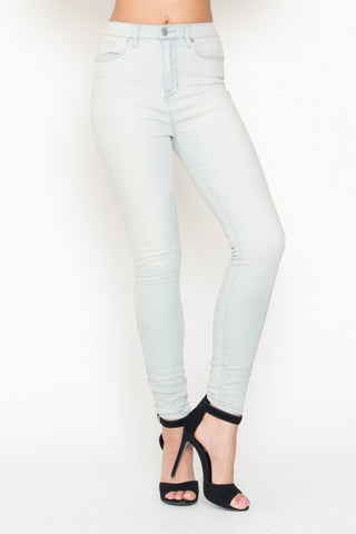 High-Waisted Denim Pants