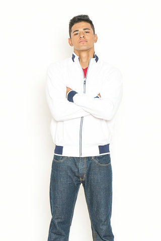 White Full-Zip Active Knit