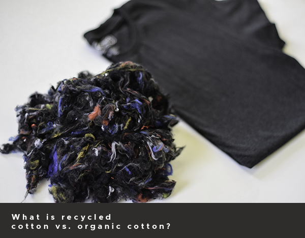 What is recycled cotton vs. organic cotton?