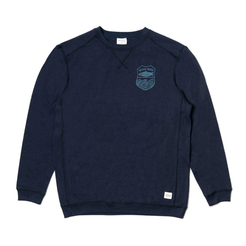 Fish Crest Crewneck Sweatshirt