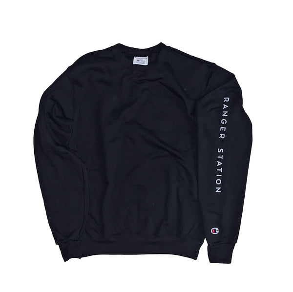 Champion Crew Neck Sweatshirt (Sleeve Logo)