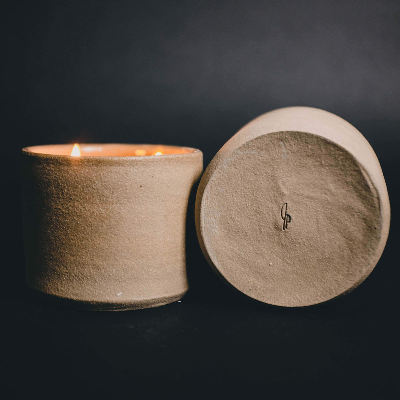 Ranger Station Leather + Pine Ranger Station & Plant Provisions Ceramic Candle