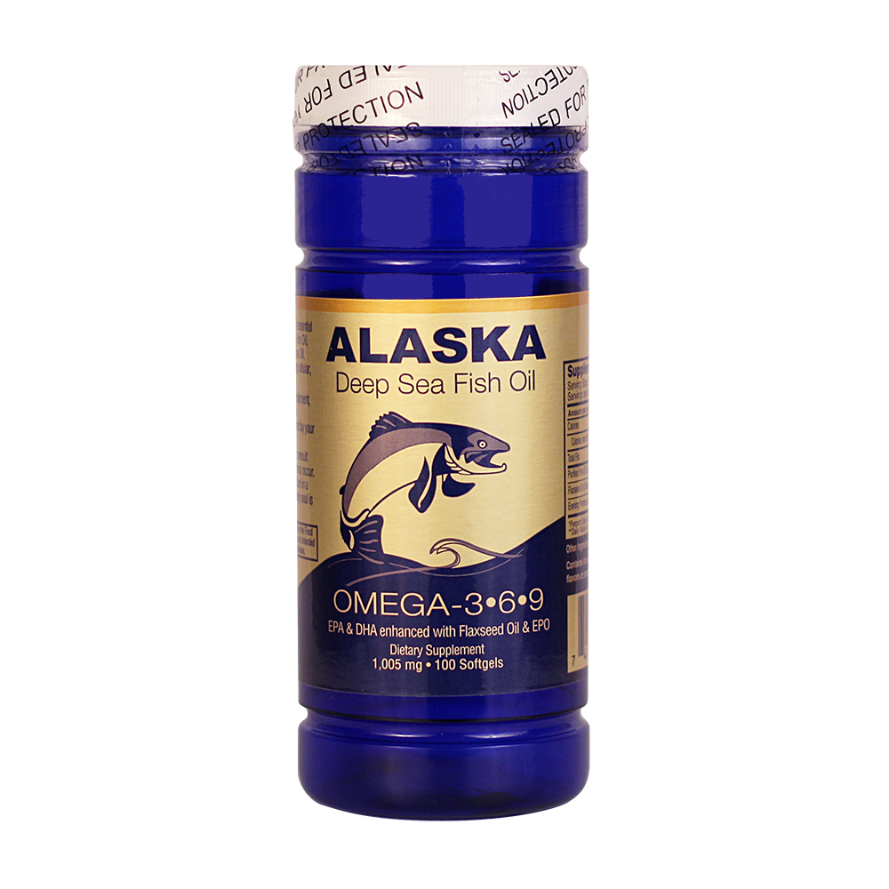 Alaska Deep Sea Fish Oil Omega 3 6 9 100 Softgels 1 005mg Ncb