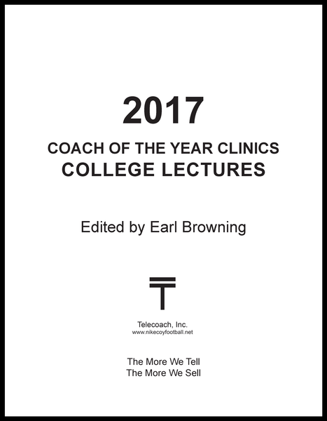2017 Coach of the Year Clinics College Lectures (PDF Copy) College Lectures Only