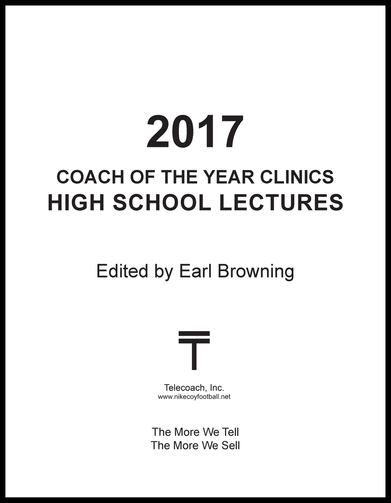 2017 Coach of the Year Clinics High School Lectures (PDF Copy)