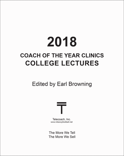 2018 Coach of the Year Clinics College Lectures (PDF Copy) College Lectures Only