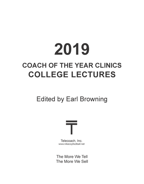 2019 Coach of the Year Clinics College Lectures (PDF Copy) College Lectures Only