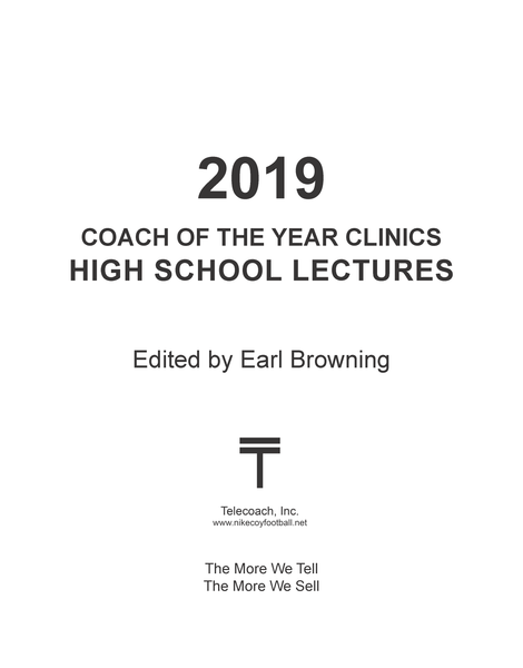 2019 Coach of the Year Clinics High School Lectures (PDF Copy)