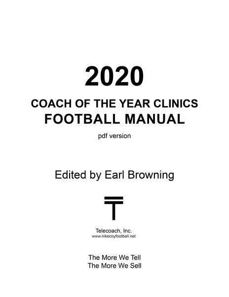 2020 Nike Coach of the Year Clinic Manual (PDF Copy) College & H.S. Lectures