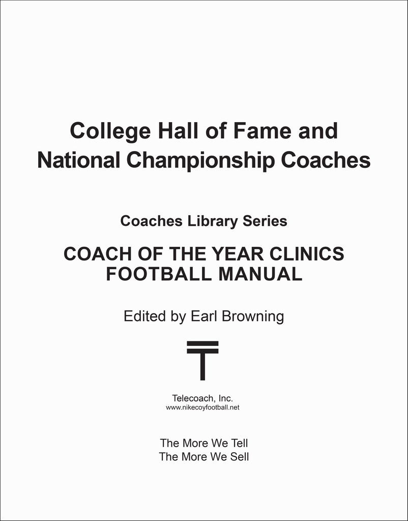 College Hall of Fame and National Championship Coaches (PDF Copy)