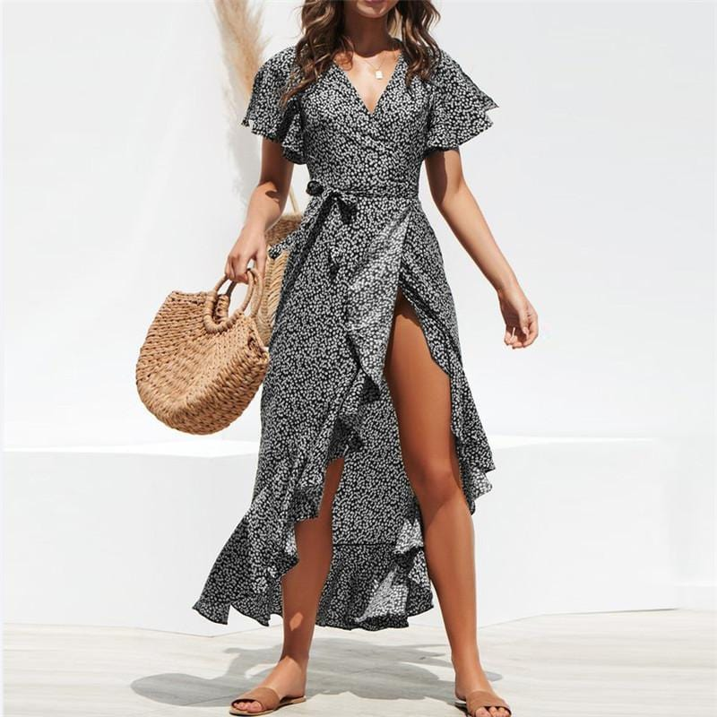 Robe longue style boho à volants - Robes - BohemeForever