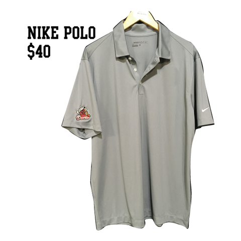 Grosse Pointe Old Devils Grey Short Sleeve Nike Polo