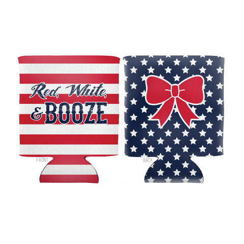 Red White and Booze Beverage Insulator