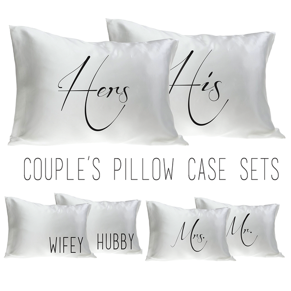 Mr. And Mrs. Pillow Case Set