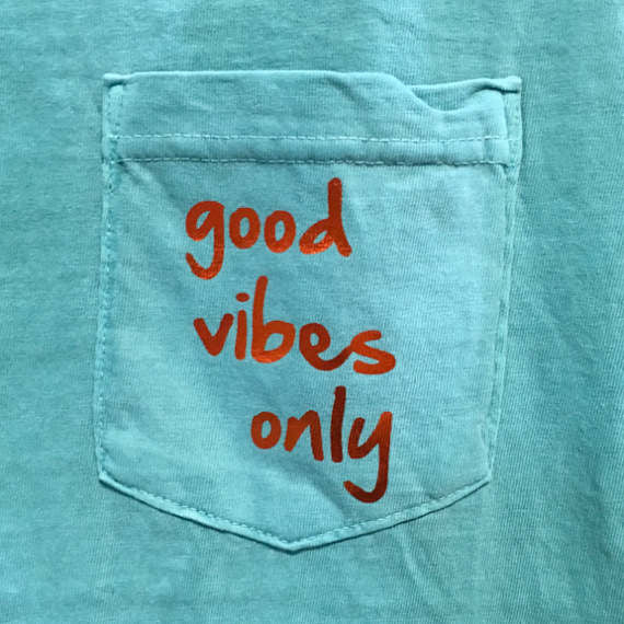 Good Vibes Only Comfort Colors Pocket Tank Top / Summer Tank / Beach Wear / Unisex Pocket Tank / Foil Text / Spring Break /