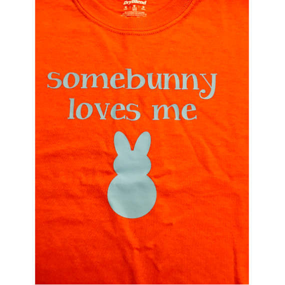 SomeBunny Loves Me Easter Youth Short Sleeve T-Shirt