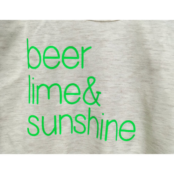 Beer Lime & Sunshine Juniors District TBack Summer Drinking Tank