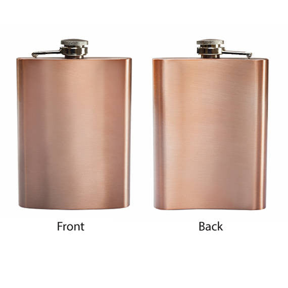 Customizable Copper Flask Drinking Flask Summer Time Fun Party Favor Drink ware Gift Bottle Container Hip Flask