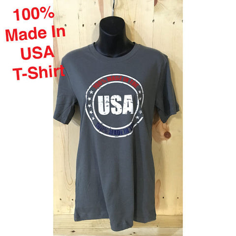 100% Made in USA Distressed Bella Canvas Unisex Made in USA Jersey Tee / Fourth of July / 'MURICA / 4th of July /Summer Top/ Made in America