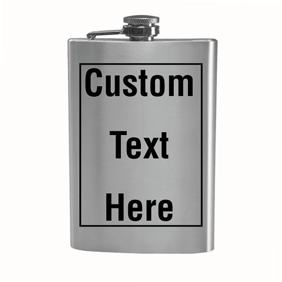 Customizable Silver Stainless Steel 9oz Drinking Hip Flask