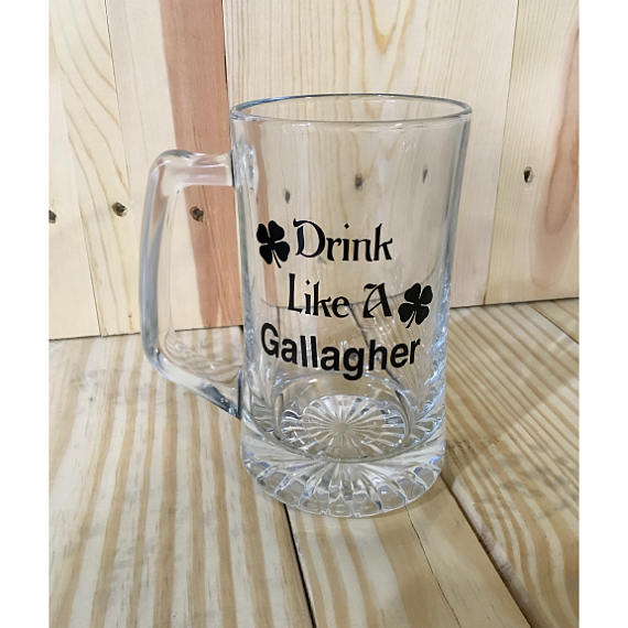 Drink Like A Gallagher Sports Beer Mug