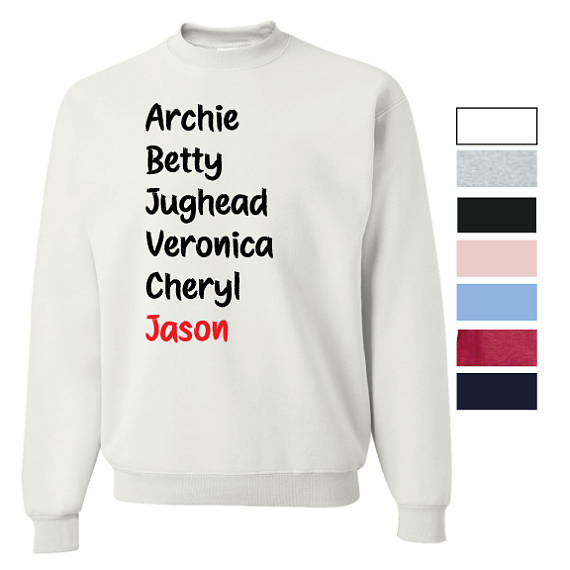 Archie Betty Jughead Veronica Cheryl Jason Riverdale Unisex Crewneck